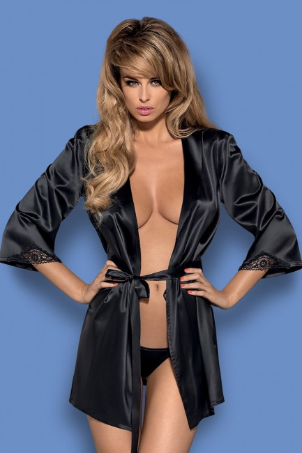 Obsessive Satinia robe black
